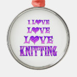 Love Love Knitting Christmas Tree Ornaments