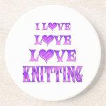 Love Love Knitting Coaster
