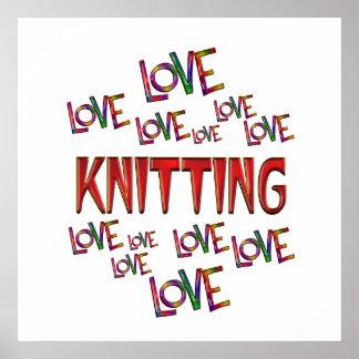 Love Love Knitting Poster