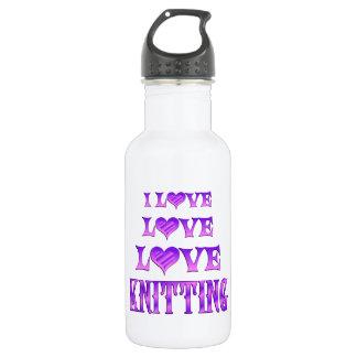 Love Love Knitting Stainless Steel Water Bottle