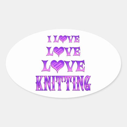 Love Love Knitting Sticker