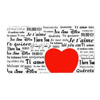 Love Love Shipping Label