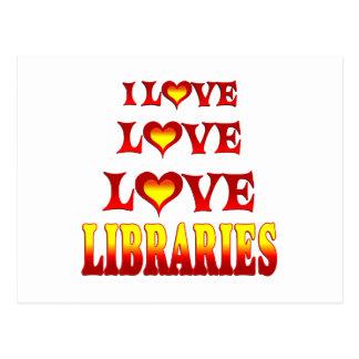 Love Love Libraries Postcards