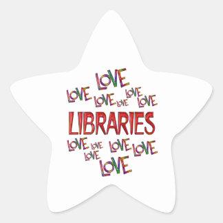 Love Love Libraries Star Sticker