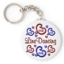 LOVE LOVE Line Dancing Keychain