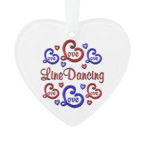 LOVE LOVE Line Dancing Ornament