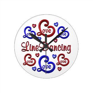 LOVE LOVE Line Dancing Round Clock
