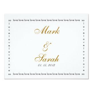 Love Love Love Brown RSVP 4.25x5.5 Paper Invitation Card