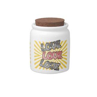 Love Love Love Candy Jar