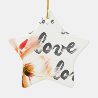 Love Love Love Ceramic Ornament