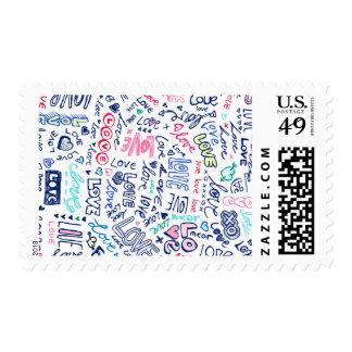 Love love LOVE doodle graffiti stamps
