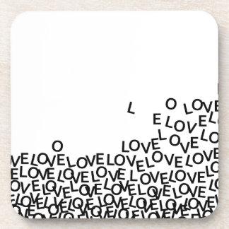 love love love drink coaster