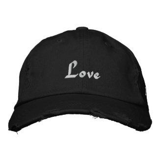 Love, Love, Love Embroidered Baseball Hat