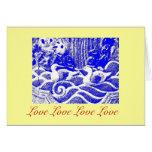 """Love Love Love Love"" Greeting Card"