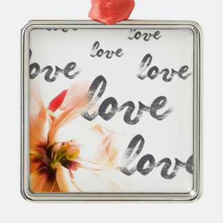 Love Love Love Metal Ornament
