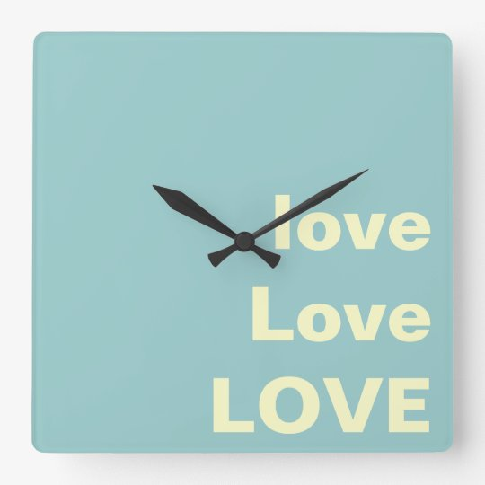 love Love LOVE Modern Wall Clock