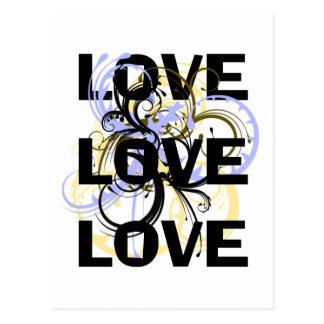Love Love Love Postcard