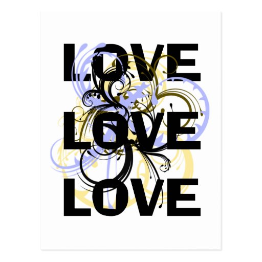 Love Love Love Post Cards