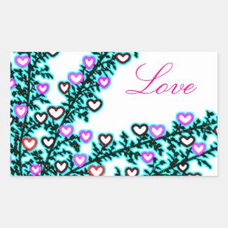 Love, Love, Love!!! Rectangular Sticker