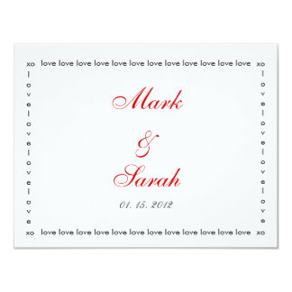 Love Love Love Red RSVP 4.25x5.5 Paper Invitation Card