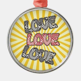 Love Love Love Round Ornament