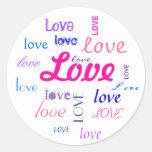 Love, love, love... round sticker