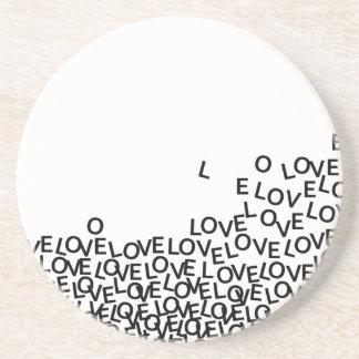 love love love sandstone coaster