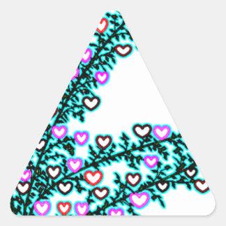 Love, Love, Love!!! Triangle Sticker