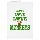 Love Love Monkeys Greeting Cards