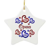 LOVE LOVE Opera Ceramic Ornament