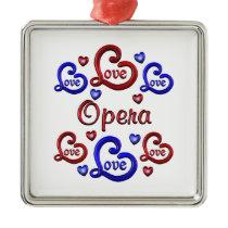 LOVE LOVE Opera Metal Ornament