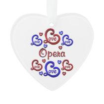 LOVE LOVE Opera Ornament