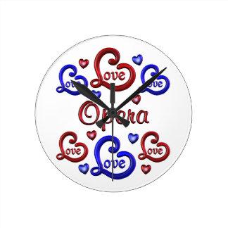 LOVE LOVE Opera Round Clock