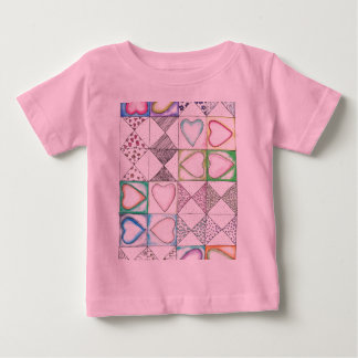 Love Love Pattern Baby T-Shirt