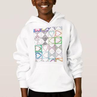Love Love Pattern Hoodie