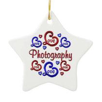 LOVE LOVE Photography Ceramic Ornament