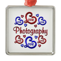 LOVE LOVE Photography Metal Ornament