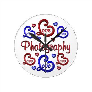LOVE LOVE Photography Round Clock