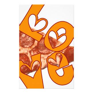 Love Love Pizza Stationery