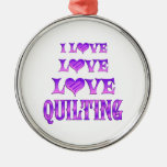 Love Love Quilting Christmas Tree Ornament