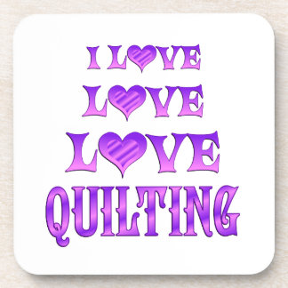 Love Love Quilting Drink Coasters