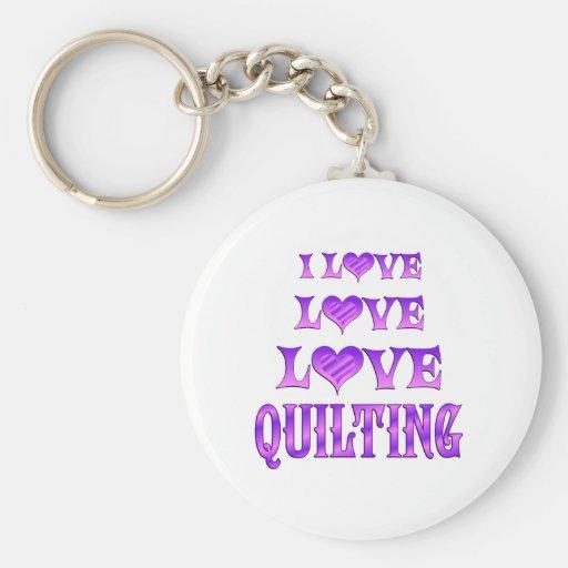 Love Love Quilting Key Chain