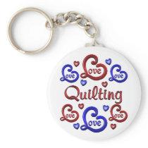 LOVE LOVE Quilting Keychain