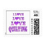 Love Love Quilting Postage Stamps