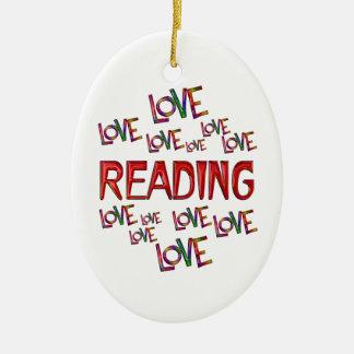 Love Love Reading Ceramic Ornament