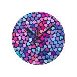 Love Love Round Clock