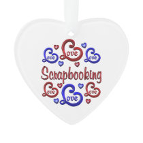 LOVE LOVE Scrapbooking Ornament