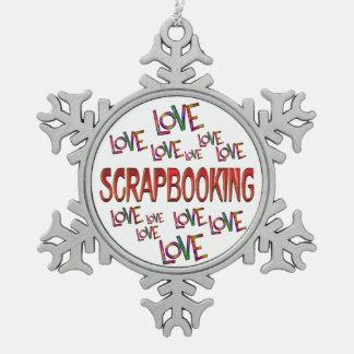 Love Love Scrapbooking Snowflake Pewter Christmas Ornament