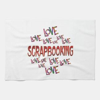 Love Love Scrapbooking Towel