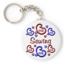 LOVE LOVE Sewing Keychain